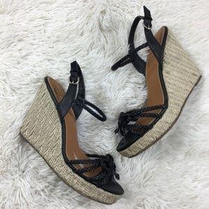 Kelsi Dagger Wedge Shoes 7.5 Brooklyn Strappy Diza